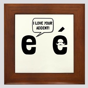Love Accent Framed Tile