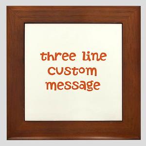 Three Line Custom Design Framed Tile