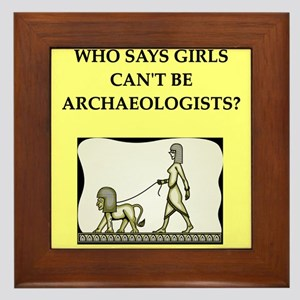 archaeology Framed Tile
