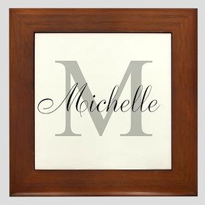 Personalized Monogram Name Framed Tile