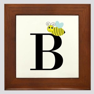 B is for Bee Framed Tile