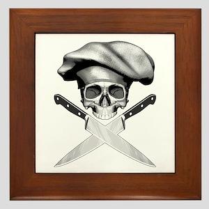 Chef skull: v2 Framed Tile