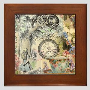 Cheshire Cat Alice in Wonderland Framed Tile