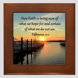 HEBREWS 11:1 Framed Tile