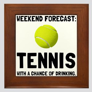 Weekend Forecast Tennis Framed Tile