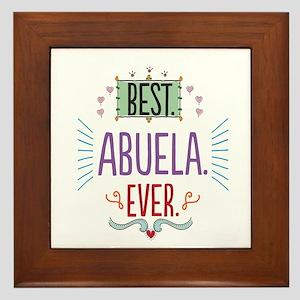Best Abuela Ever Framed Tile