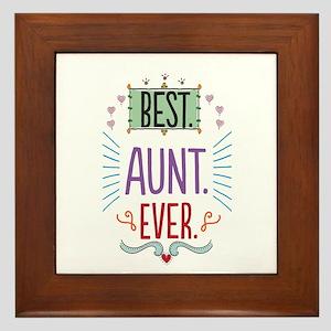 Best Aunt Ever Framed Tile