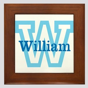 CUSTOM First Initial and Name Framed Tile