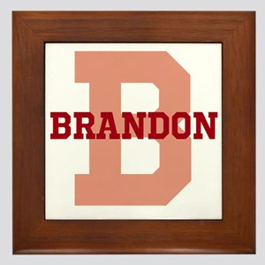 CUSTOM Initial and Name Red Framed Tile