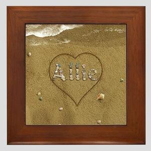 Allie Beach Love Framed Tile
