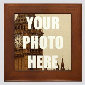 Your Photo Here Personalize It! Framed Tile