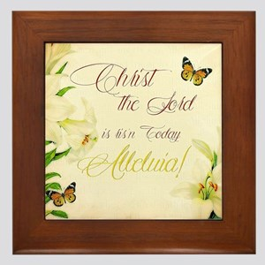 Christ the Lord is ris'n today Framed Tile