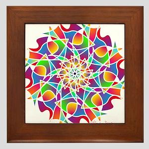Stained Glass Mandala Framed Tile