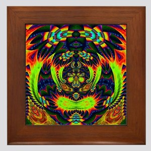 Psychedelic NeuLight n1 Framed Tile