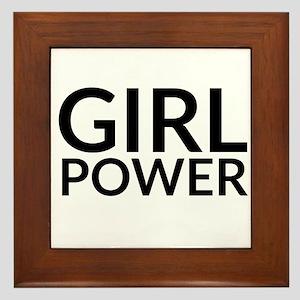 Girl Power Framed Tile