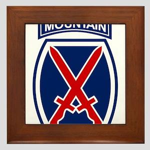 10th Mountain Division Framed Tile