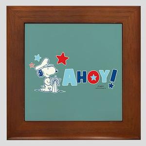 Snoopy AHOY Full Bleed Framed Tile
