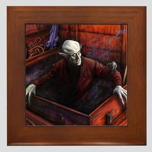 Dracula Nosferatu Vampire Framed Tile
