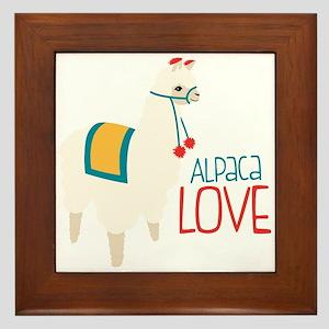 Alpaca Love Framed Tile