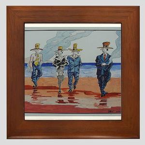 Billy Boys by Pat Framed Tile