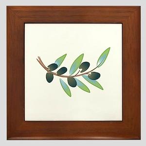 OLIVE BRANCH Framed Tile