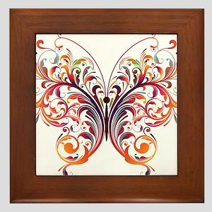 Scroll Butterfly Framed Tile