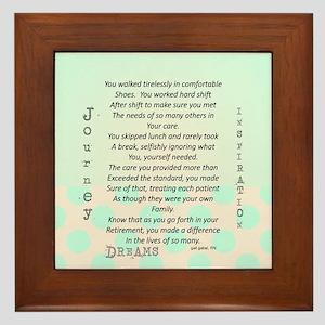 Retired Nurse Poem Framed Tile