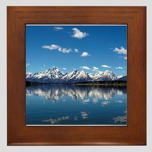 GRAND TETON - JACKSON LAKE Framed Tile