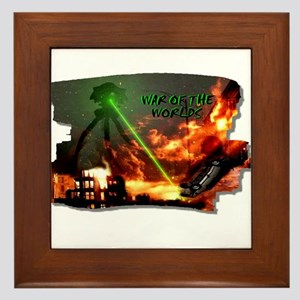war of the worlds Framed Tile