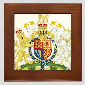 United Kingdom Coat Of Arms Framed Tile