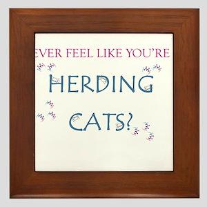 Herding Cats Framed Tile