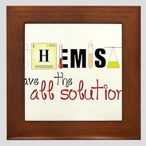 All The Solutions Framed Tile
