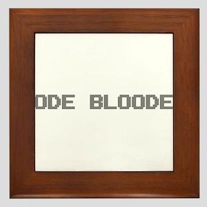 Code Blooded Framed Tile
