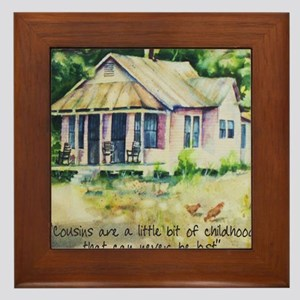Cousin quote - a little bit of childho Framed Tile