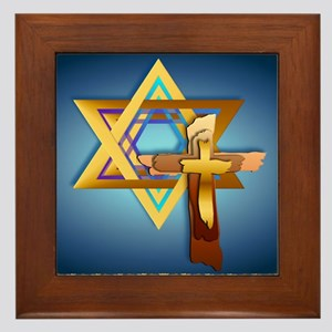 Star Of David and Triple Cross_mpad Framed Tile