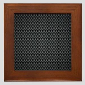 Carbon Mesh Pattern Framed Tile