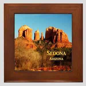 Sedona_11x9_CathedralRocks Framed Tile