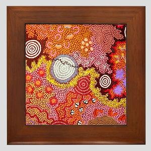 AUSTRALIAN ABORIGINAL ART Framed Tile