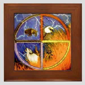 Medicine Wheel Framed Tile