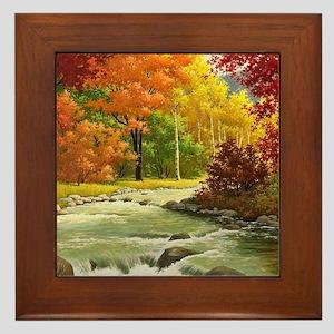 Autumn Landscape Framed Tile