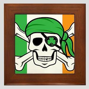 Irish Jolly Roger - Pirate Flag Framed Tile