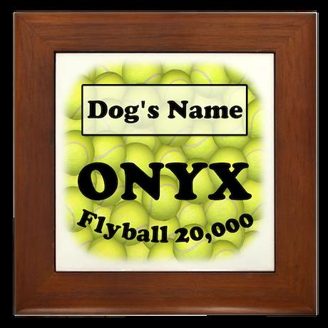 Flyball ONYX Framed Tile