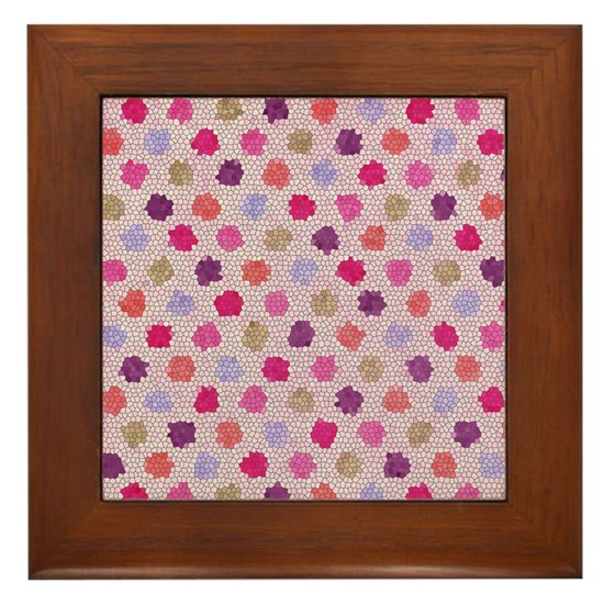 stained glass polka dots