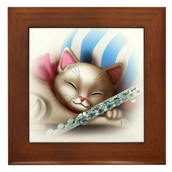 Napping Cat and Flute