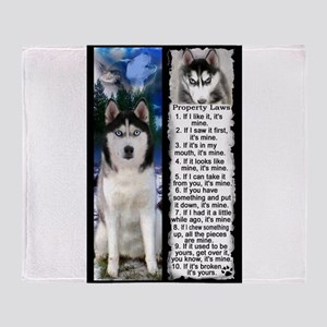 Siberian Husky Dog Laws Rules Arctic Fleece Throw