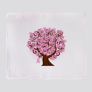 The Tree of Life...Breast Cancer Arctic Fleece Thr