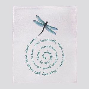 Dragonfly Rule of three Arctic Fleece Throw Blanke