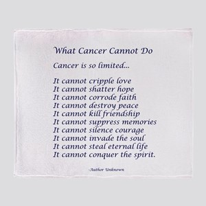What Cancer Cannot Do Poem Arctic Fleece Throw Bla