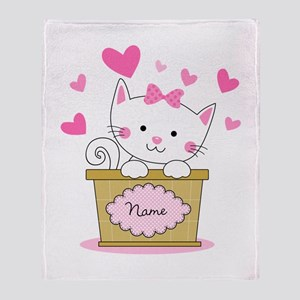 Personalized Kitty Love Arctic Fleece Throw Blanke