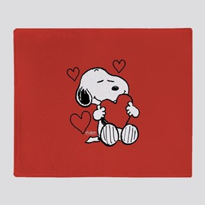 Snoopy Valentine's Day Arctic Fleece Throw Bla